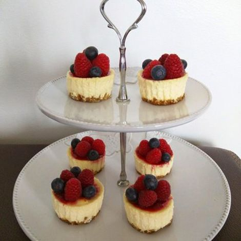mini cheesecake aux fruits rouges et fromage frais recette au fromage. Black Bedroom Furniture Sets. Home Design Ideas