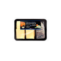 RICHES MONTS PLATEAU ASSORTIMENT DECOUVERTE  RACLETTE & FOURME 660G