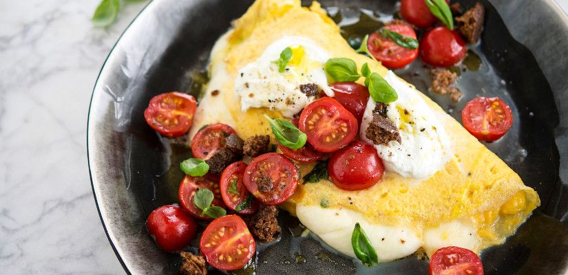 Recettes d'omelettes : Omelette au fromage à l'italienne