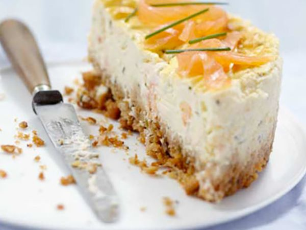 Cheesecake :  Cheesecake au saumon fumé et fromage frais