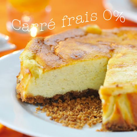 Recette : Cheesecake au fromage frais 0% - Recette au fromage