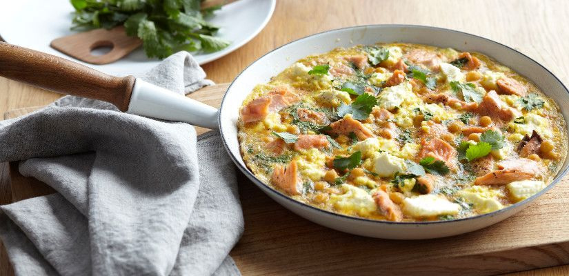 Recettes d'omelettes : Omelette saumon et fromage