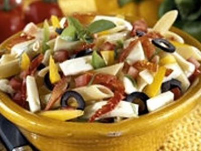 Recette : Salade italienne au fromage - Recette au fromage