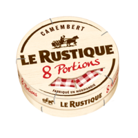 LE RUSTIQUE CAMEMBERT 8 PORTIONS 240G