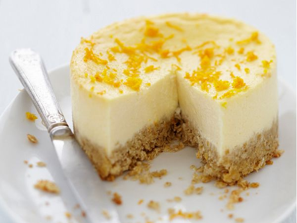 Cheesecake :  Cheesecake aux oranges et fromage frais