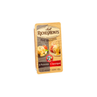 RICHESMONTS FROMAGE RACLETTE TRANCHETTES DUO NATURE & POIVRES 420G