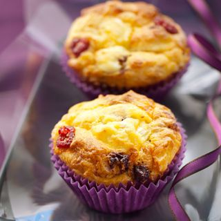 Recette : Muffins pommes, cranberries et fromage - Recette au fromage